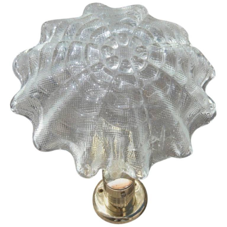 Barovier Wall Sconce Leaf Murano Art Glass, 1940s