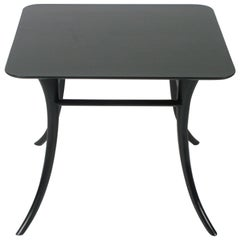 T. H. Robsjohn-Gibbings End Table with Splayed Legs - Ebony Finish