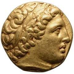 Ancient Greek Gold Coin of King Philip II of Macedon, 323 BC