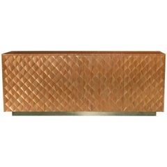Flair Edition Gold Straw Marquetry Sideboard