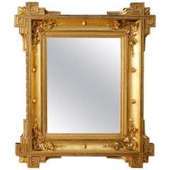 19th Century French Golden Mirror