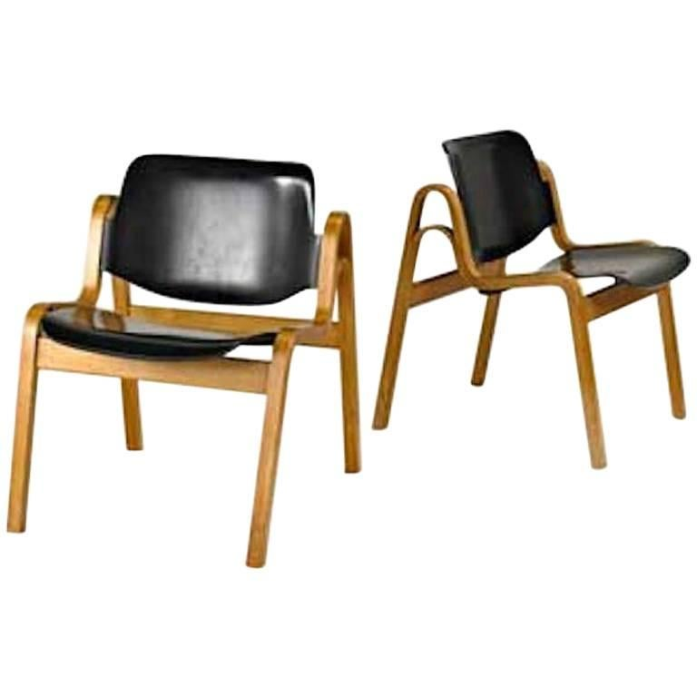 Pair of Ilmari Tapiovaara Molded Plywood 'Wilhelmina' Chairs