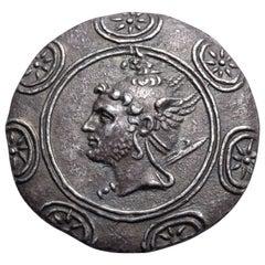 Ancient Greek Silver Tetradrachm Coin of King Philip V, 188 BC
