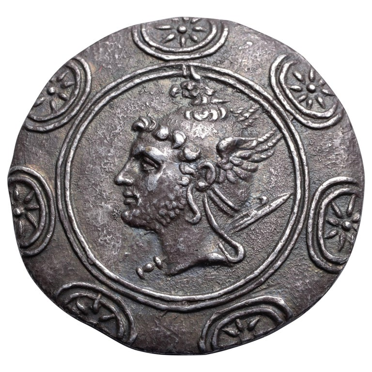 Ancient Greek Silver Tetradrachm Coin of King Philip V, 188 BC For Sale