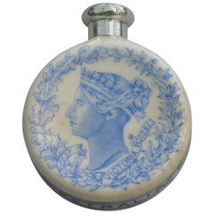 Royal Worcester Porcelain & Silver Queen Victoria's Golden Jubilee Scent Bottle