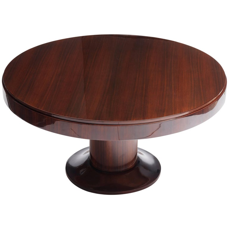Jacques Adnet, Large Round Center Table, France, 1955 For Sale