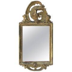 Petite Antique Giltwood Mirror
