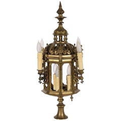 Antique Bronze Newel Post Lantern