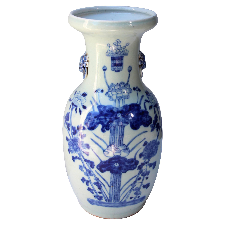Chinese Blue and White Baluster Shape Vase