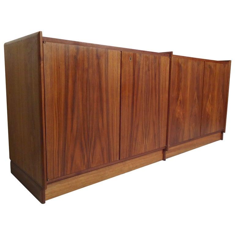 Mid-Century Modern Double Cabinet