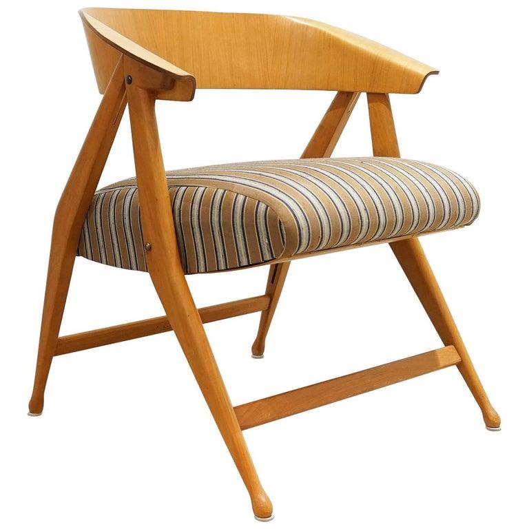 Armchair, Folding Chair by Gio Ponti, Cassina, Italy, 1954-1955