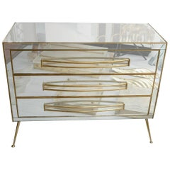 Commode All in Mirror with Three Drawers