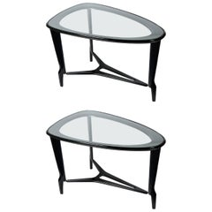 Pair of 1950s Side Tables in the Style of Gio Ponti
