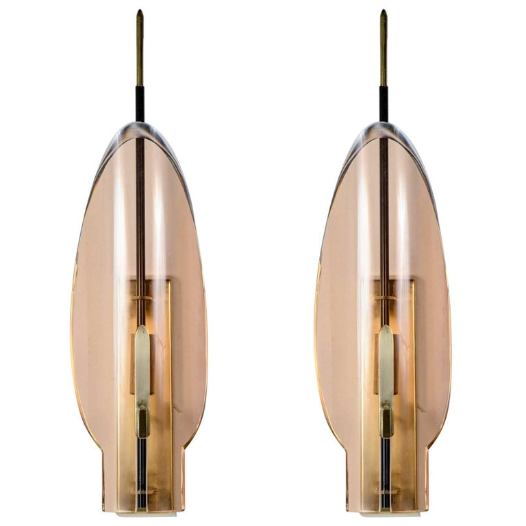 Pair of Sconces Attributed to Fontana Arté