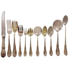 Wellington by Durgin Sterling Silver Flatware Set for 12 Service 146 Pieces