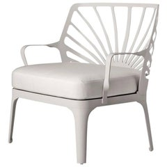 """""""Sunrise"""" White Painted Aluminum Armchair by L. and R. Palomba for Driade"""
