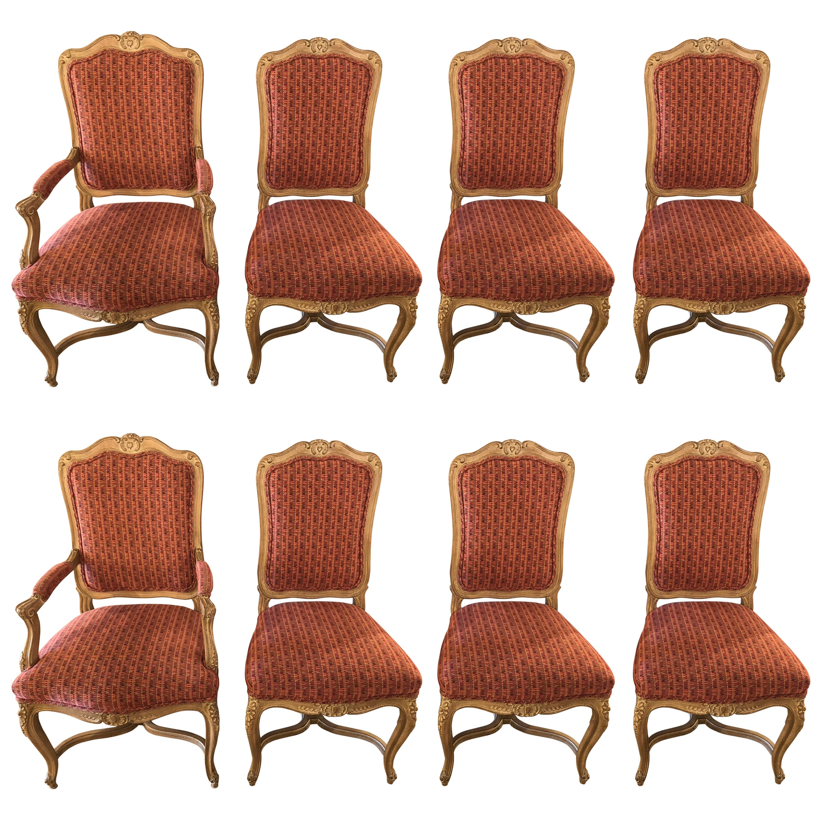 Set of Eight Maison Jansen Louis XV Style Dining Room Chairs