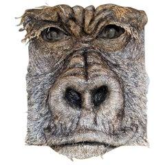 Gorilla, 21st Century Mixed-Media Sculpture by Italian Artist Matteo Volpati