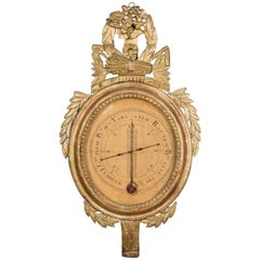 18th Century, French, Louis XVI Barometer/Thermometer