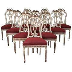 Set Of Ten 18th Century Dining Chairs
