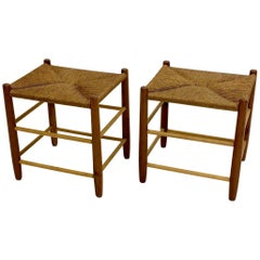 Pair of Rush Stools