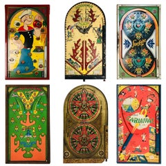 Collection of Six Antique Gameboards
