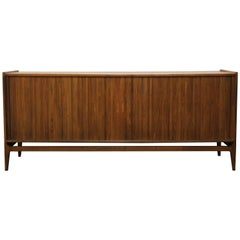 Mid-Century Modern Richard Thompson Tambour Door Credenza Glenn of California