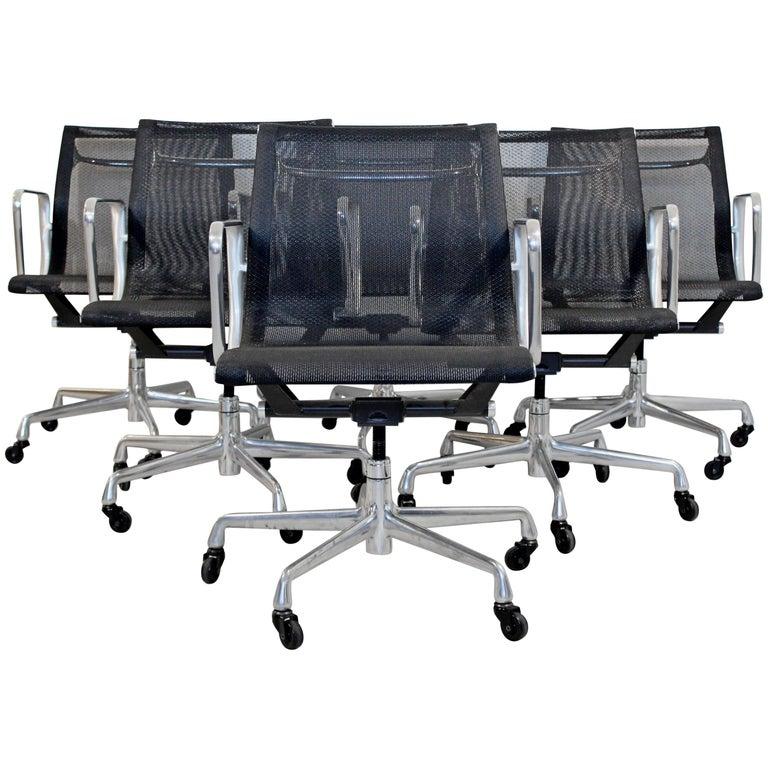 Mid-Century Modern Herman Miller Anniversary Edition Aluminum Group Chairs