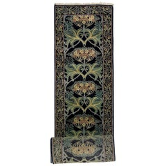 Black William Morris Inspired Runner