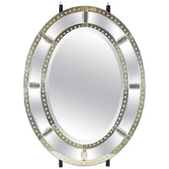 Large Venetian-Style Oval Standing Mirror