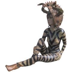 Stoneware Statue, the Viking Lady