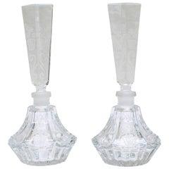 Pair of Baccarat Crystal Perfume Bottles
