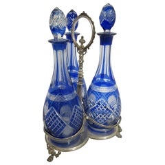 Three-Decanter Silver Plated Tantalus