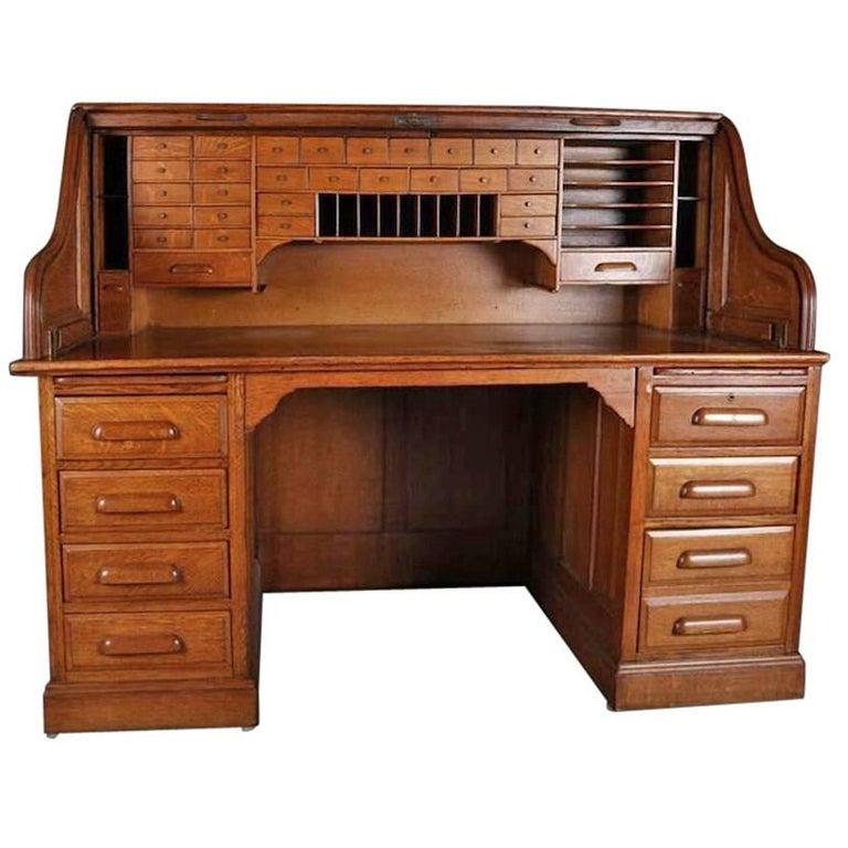 Value Of Used Oak Roll Top Desk Hostgarcia