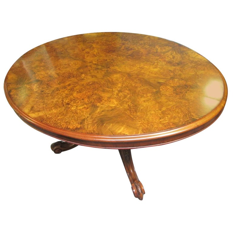 Victorian Period Walnut Dining Table or Loo Table For Sale  : 8747623master from www.1stdibs.com size 768 x 768 jpeg 61kB