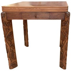 "Osvaldo Borsani ""Attributed"" Solid Oak Folding Table"