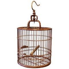 Chinese Bird's Cage in Wood from the 1930s
