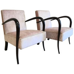 Pair of Art Deco Italian Armchairs