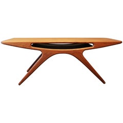 "Coffee Table, ""The Smile"" in Teak by Johannes Andersen and CFC Silkeborg, 1960s"