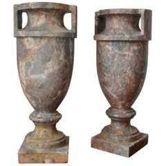 Pair of Italian Marble Urns