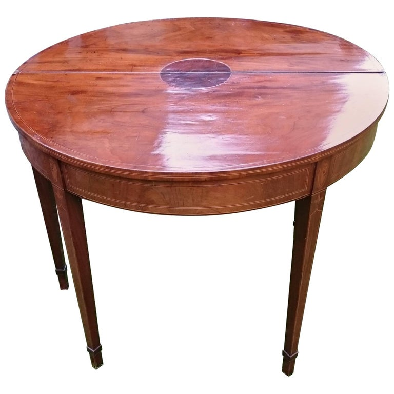 18th Century George III Period Mahogany Antique Folding Tea Table