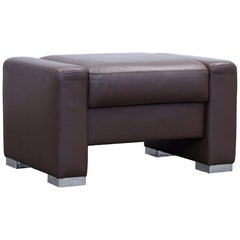 Brühl & Sippold Designer Chair Leather Brown Function Couch Modern