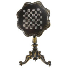 Japanned Gilt Lacquered Games Table
