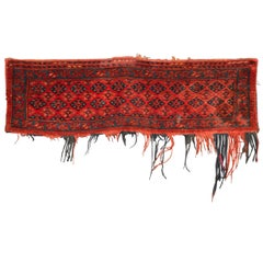 Ancient Turkmen Ersari Carpet Small Length