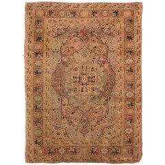 19th Century Antique Tabriz Carpet