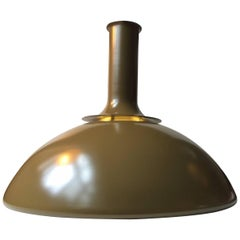 Vintage Olive Green 'Ballerina' Ceiling Lamp by Sidse Werner, Holmegaard, 1970s