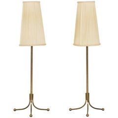 Pair of Brass Table Lamps by Josef Frank