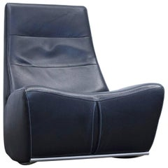Himolla Maximilian Designer Chair Leather Black Relax One-Seat Couch Modern