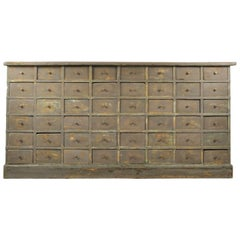 Large Bank of Drawers, circa 1900