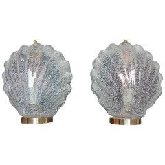 Italian Sea Shell Sconces by Barovier & Toso, circa 1960s